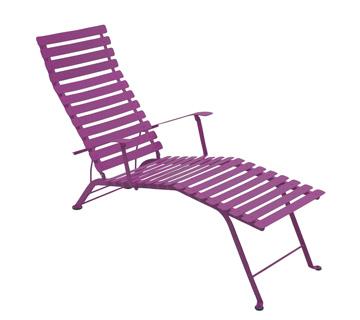 Bistro chaise longue – Aubergine