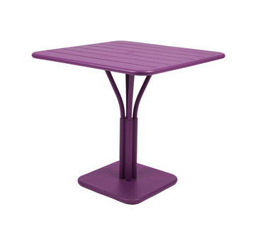 Luxembourg table 80 x 80 with 1 leg – Aubergine