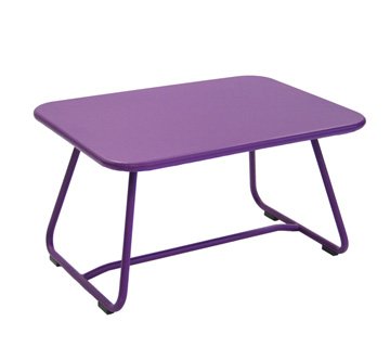 Sixties low table – Aubergine