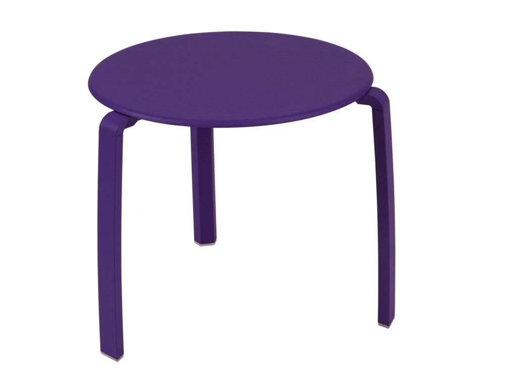 Alizé low table Ø 48 cm – Aubergine