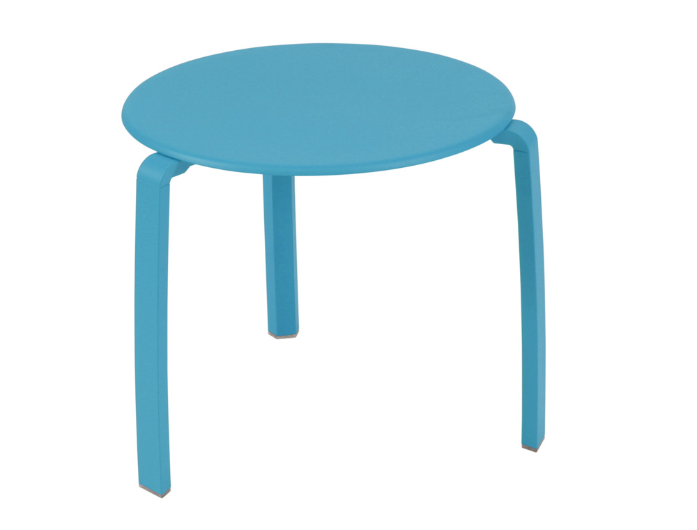 Alizé low table Ø 48 cm – Turqouise Blue