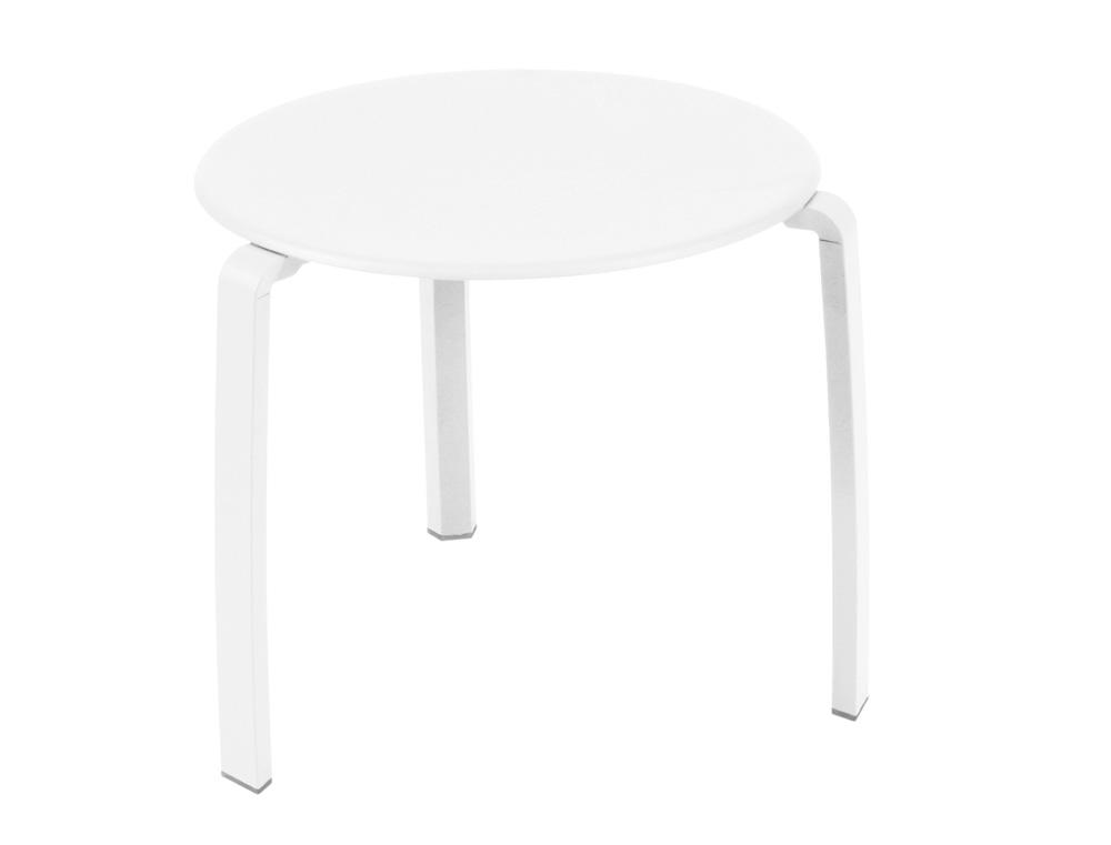 Alizé low table Ø 48 cm – Cotton White