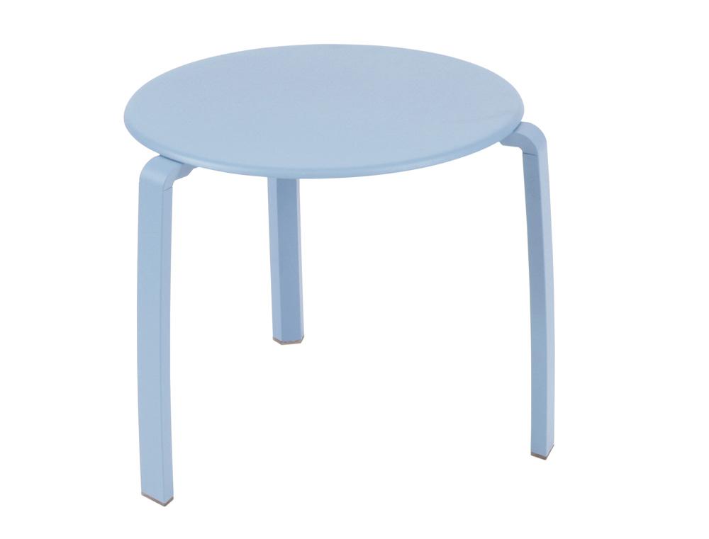 Alizé low table Ø 48 cm – Fjord Blue