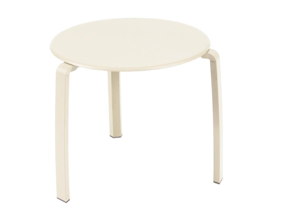 Alizé low table Ø 48 cm – Linen