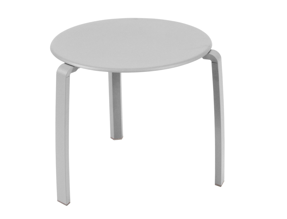Alizé low table Ø 48 cm – Steel Grey