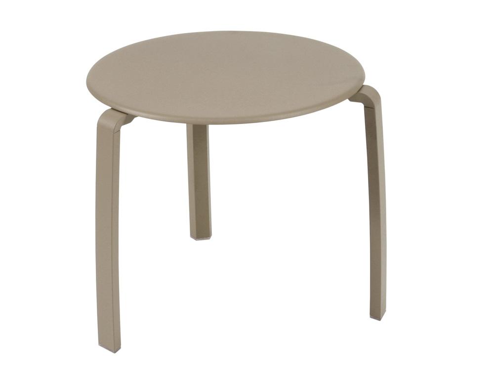 Alizé low table Ø 48 cm – Nutmeg