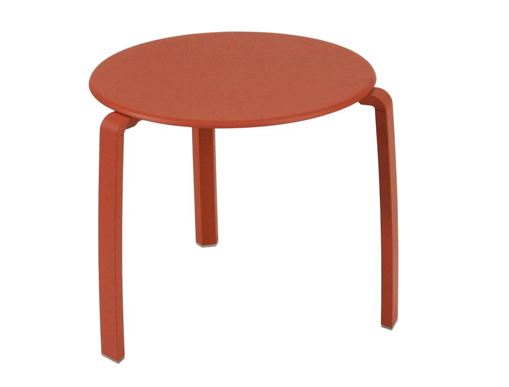 Alizé low table Ø 48 cm – Paprika