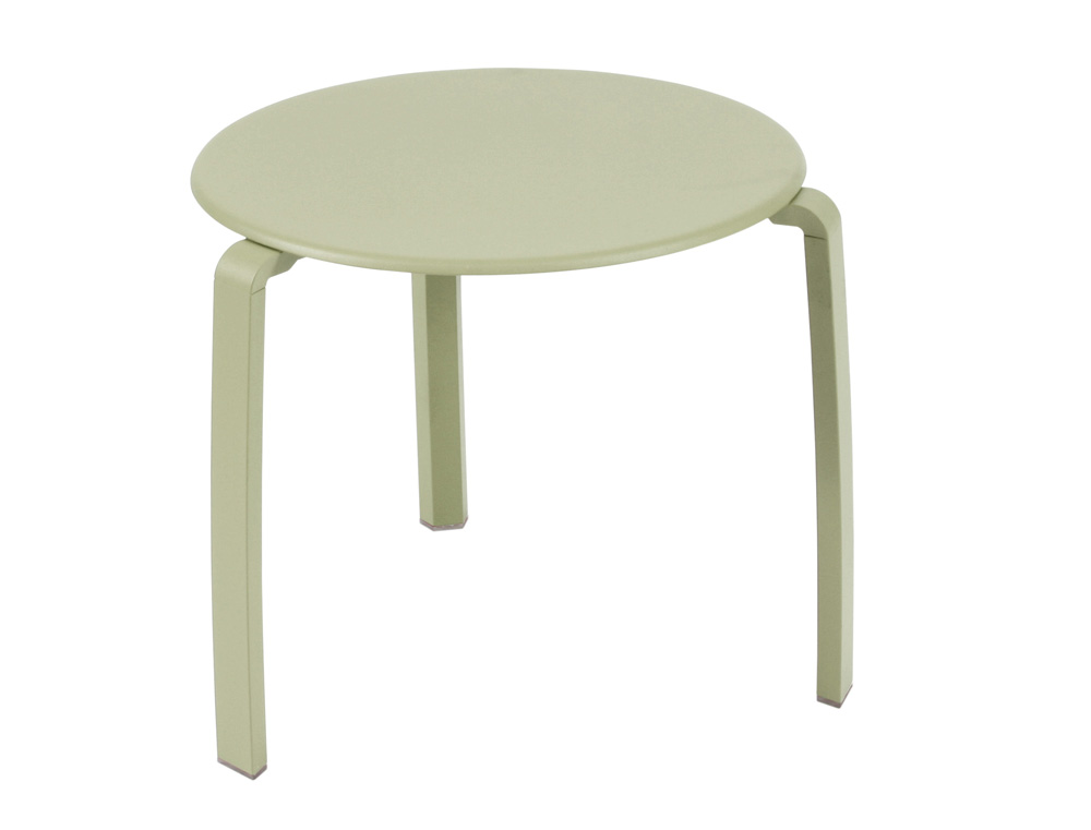 Alizé low table Ø 48 cm – Willow Green
