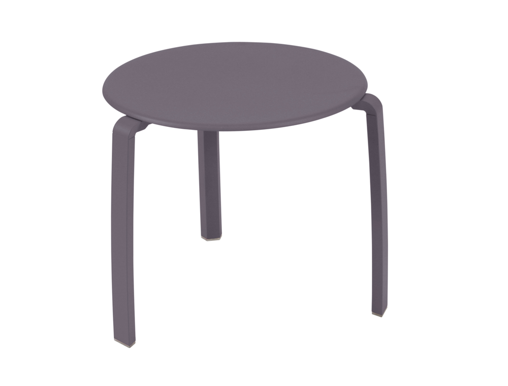 Alizé low table Ø 48 cm – Plum