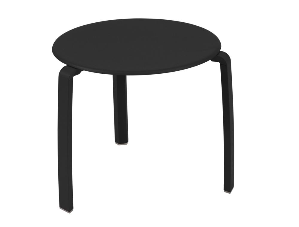 Alizé low table Ø 48 cm – Liquorice