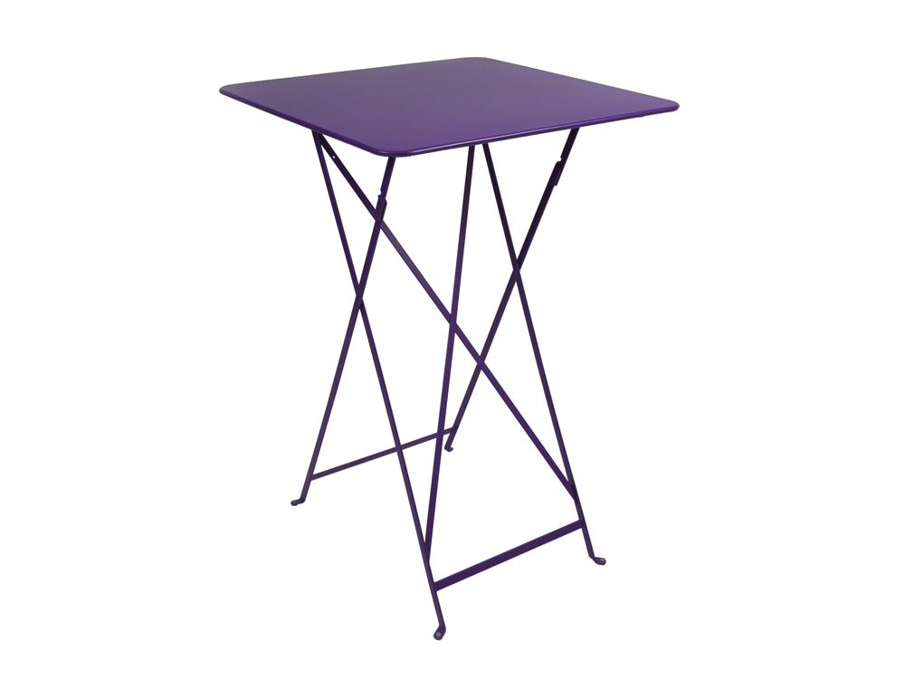 Bistro folding high table 71 x 71 cm – Aubergine
