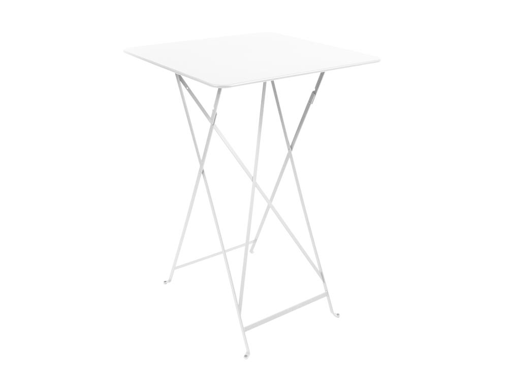 Bistro folding high table 71 x 71 cm – Cotton White