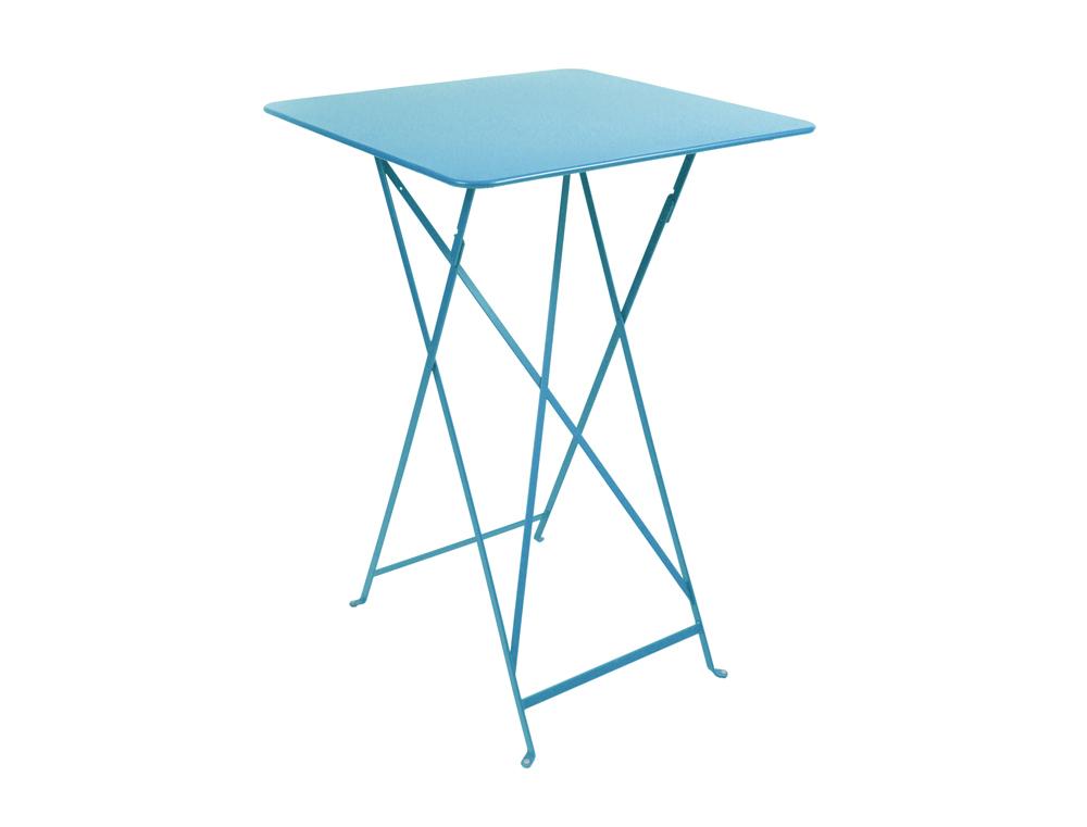 Bistro folding high table 71 x 71 cm – Turqouise Blue