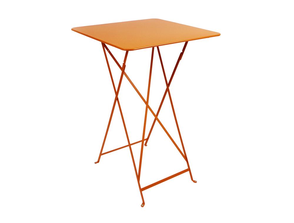 Bistro folding high table 71 x 71 cm – Carrot