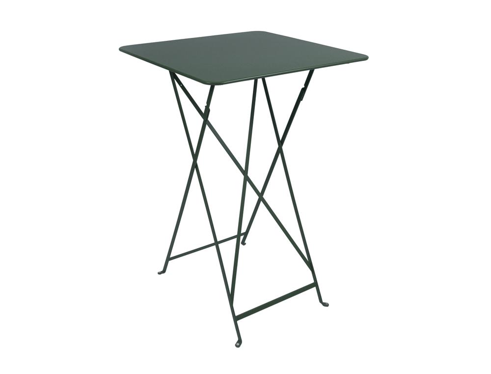 Bistro folding high table 71 x 71 cm – Cedar Green