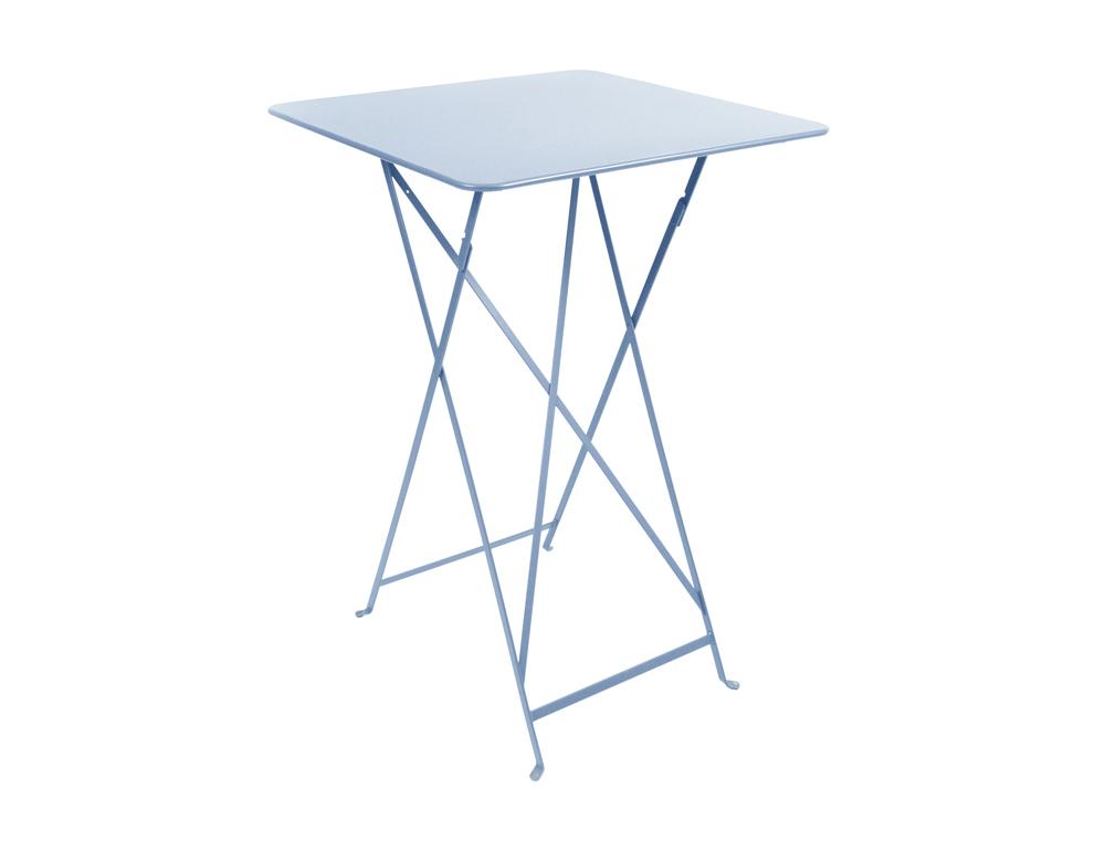 Bistro folding high table 71 x 71 cm – Fjord Blue