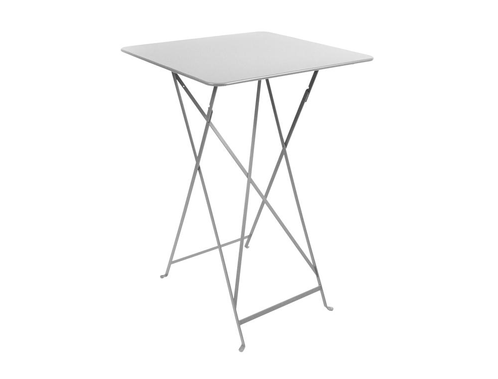 Bistro folding high table 71 x 71 cm – Steel Grey