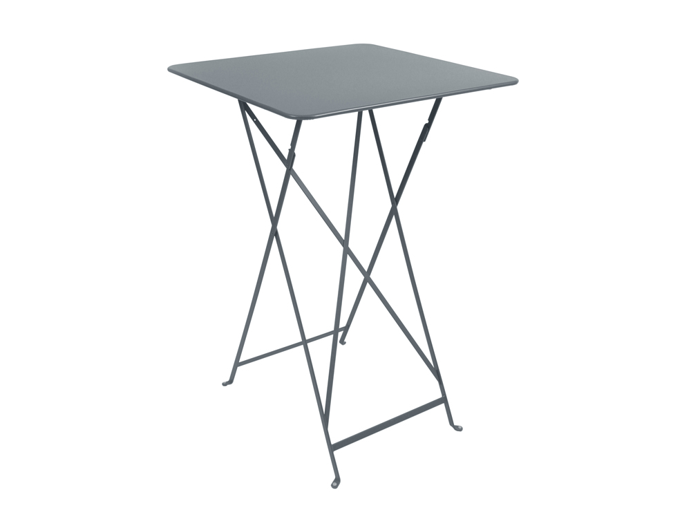 Bistro folding high table 71 x 71 cm – Storm Grey