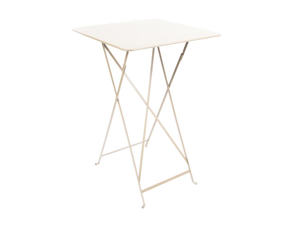 Bistro folding high table 71 x 71 cm – Linen