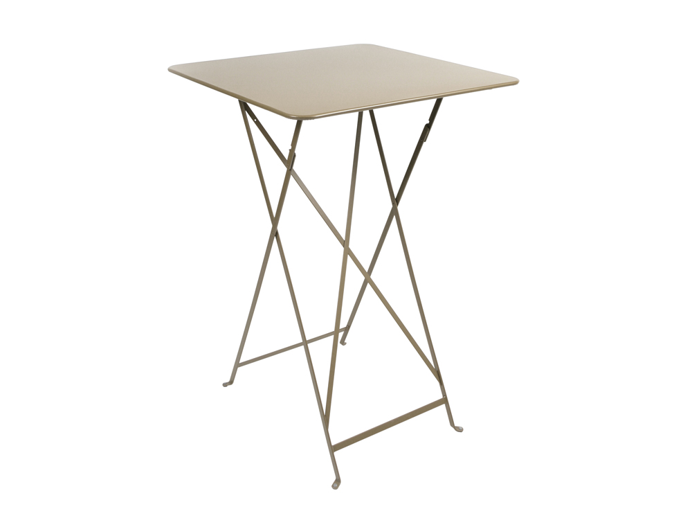 Bistro folding high table 71 x 71 cm – Nutmeg