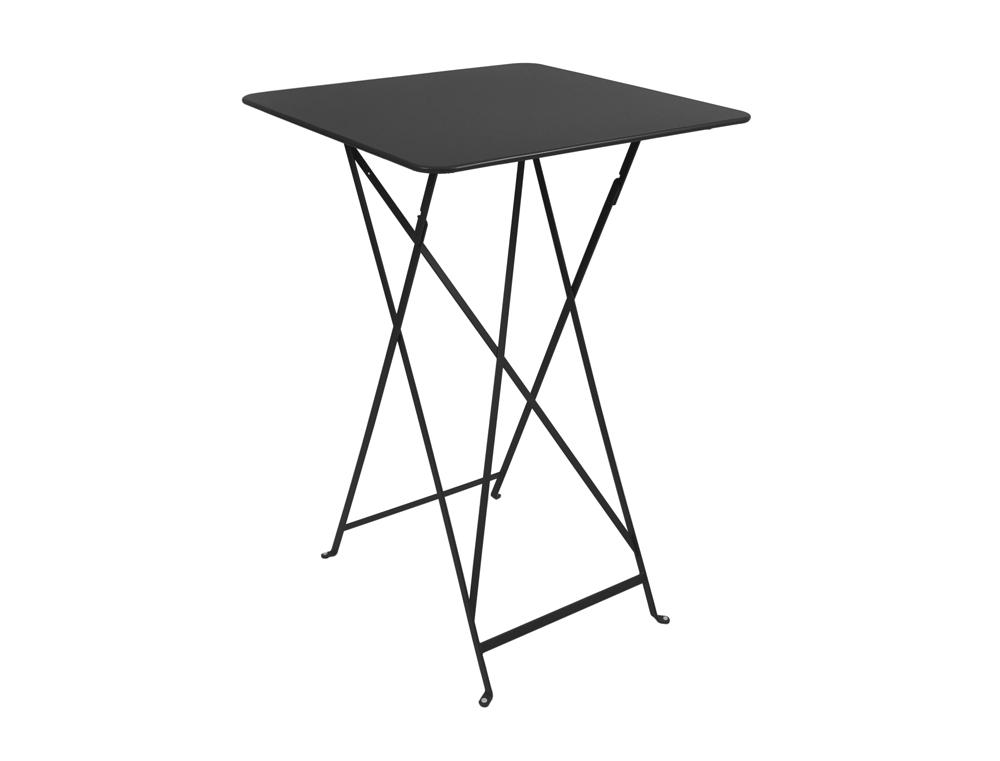 Bistro folding high table 71 x 71 cm – Liquorice