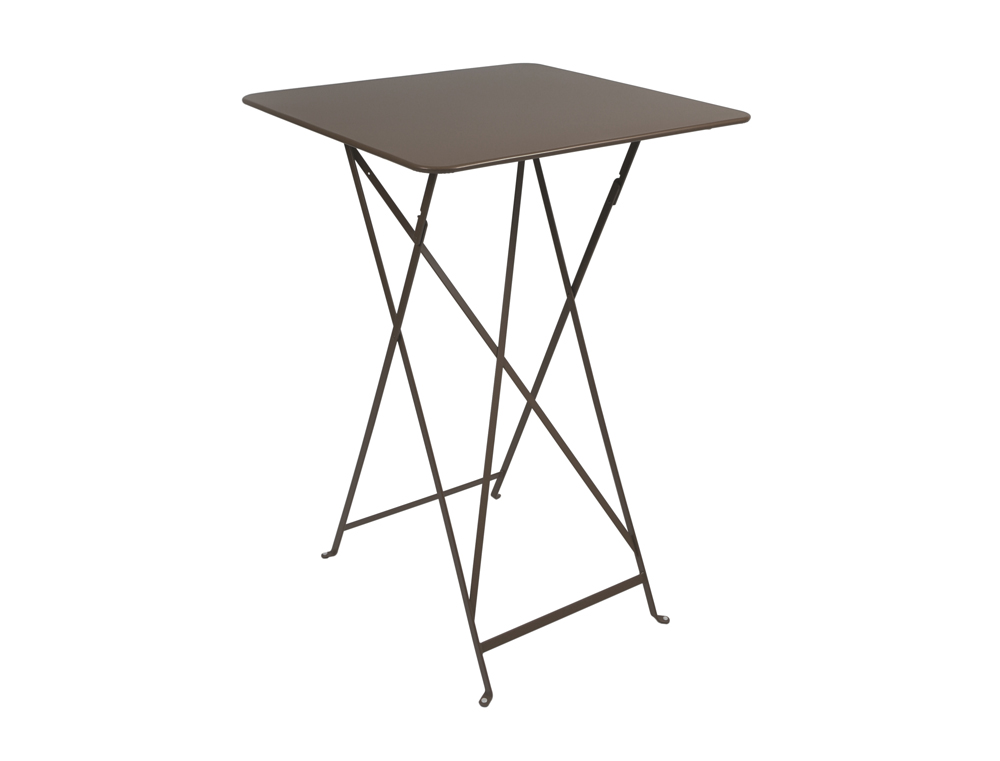Bistro folding high table 71 x 71 cm – Russet
