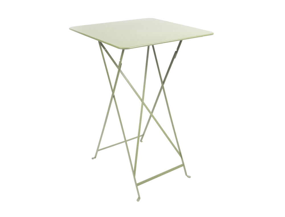 Bistro folding high table 71 x 71 cm – Willow Green