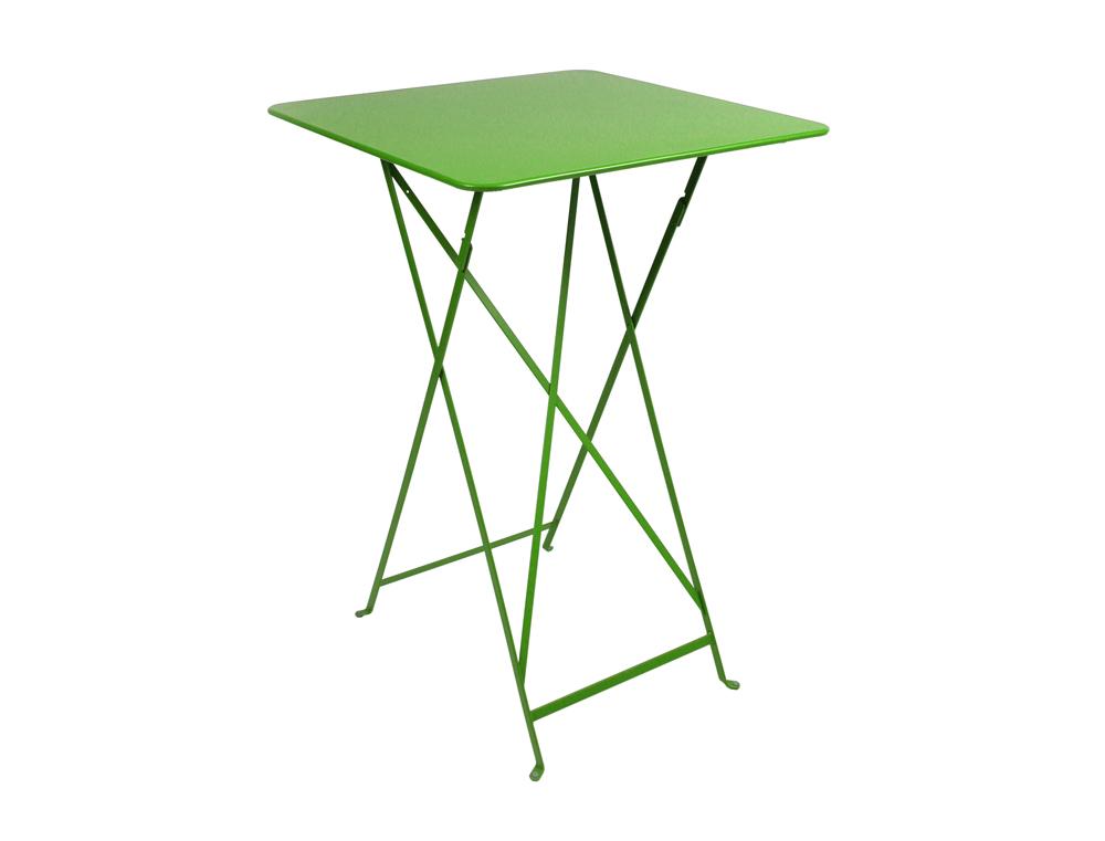 Bistro folding high table 71 x 71 cm – Grass Green