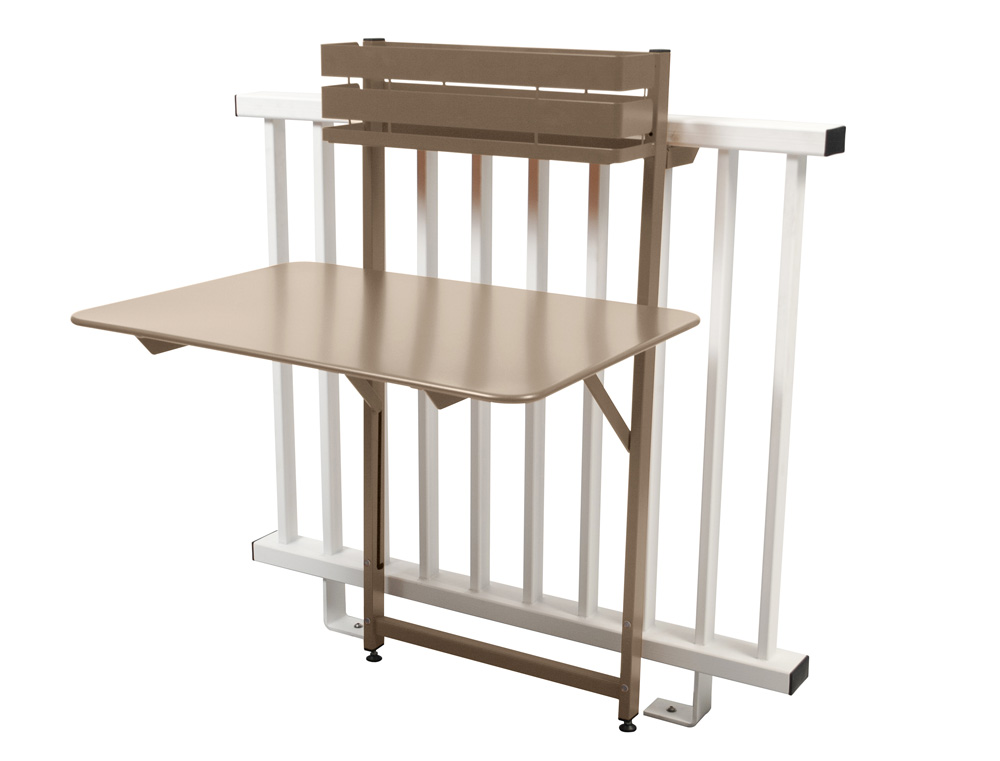 Bistro balcony table 77 x 57 cm – Nutmeg