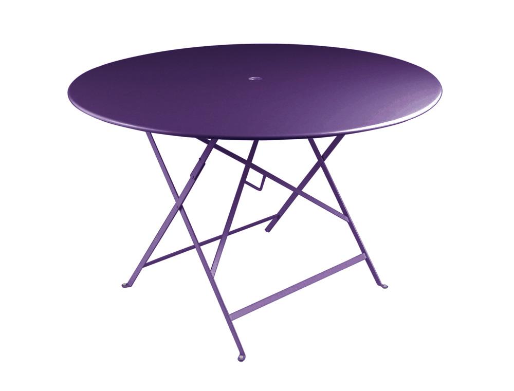 Bistro table Ø 117 cm – Aubergine