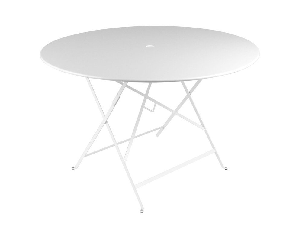 Bistro table Ø 117 cm – Cotton  White
