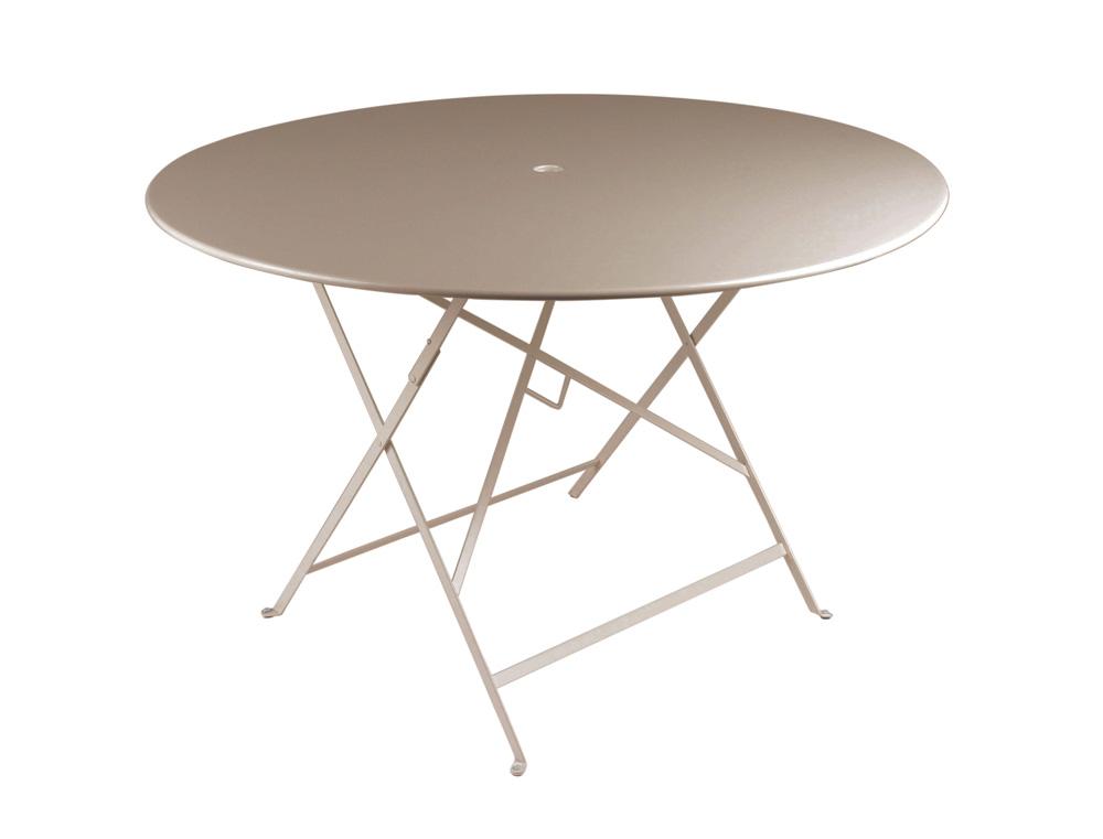 Bistro table Ø 117 cm – Nutmeg