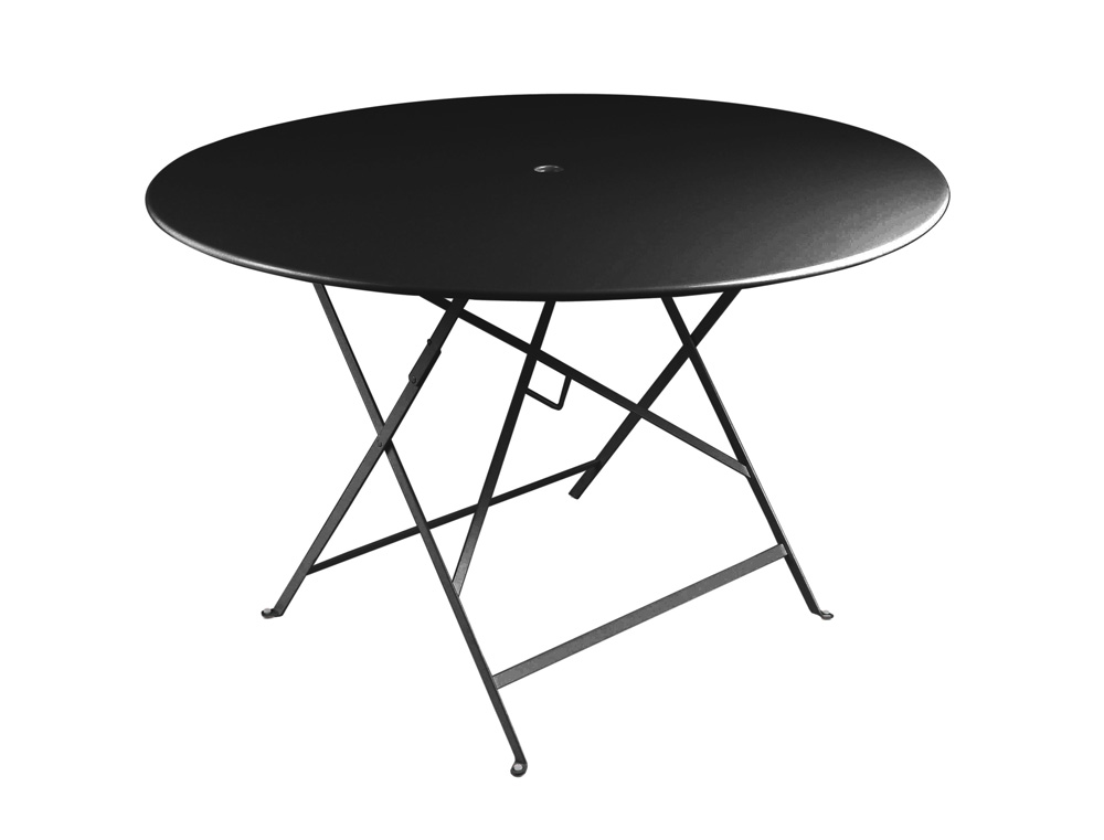 Bistro table Ø 117 cm – Liqourice