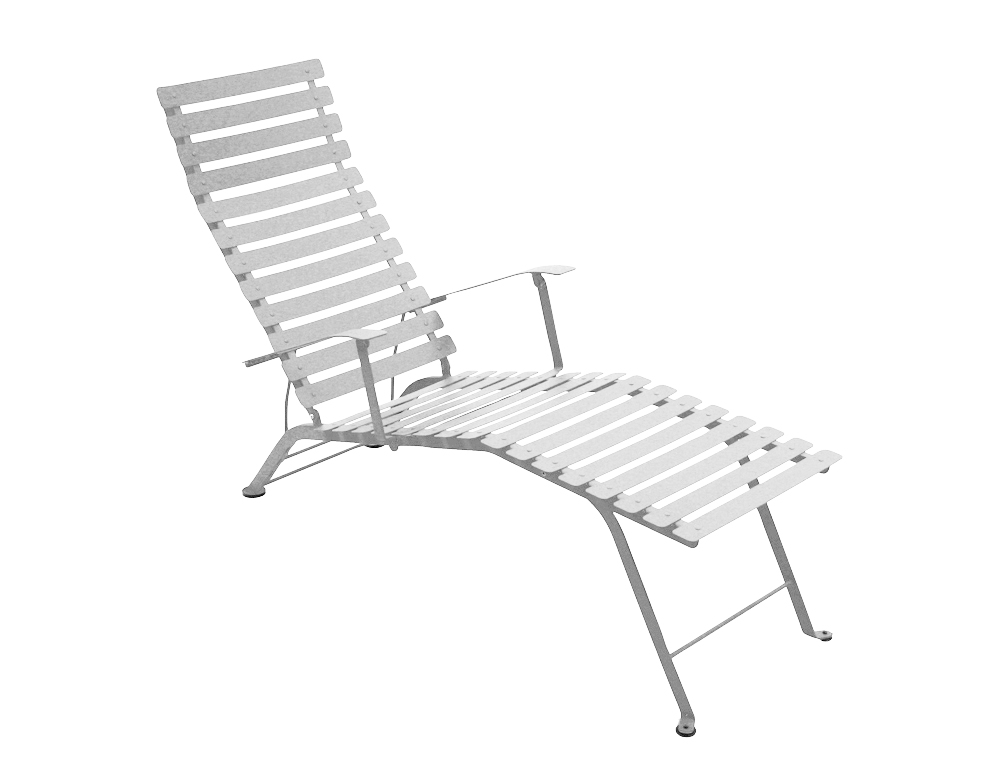 Bistro chaise longue – Steel Grey