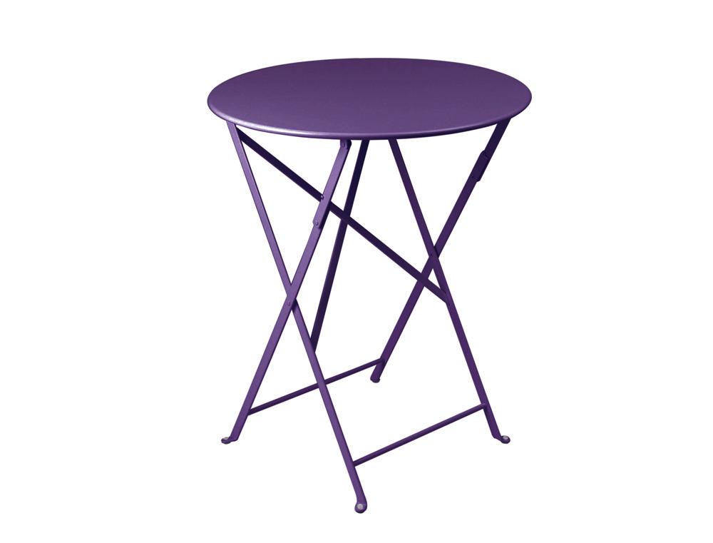 Bistro table Ø 60 cm – Aubergine