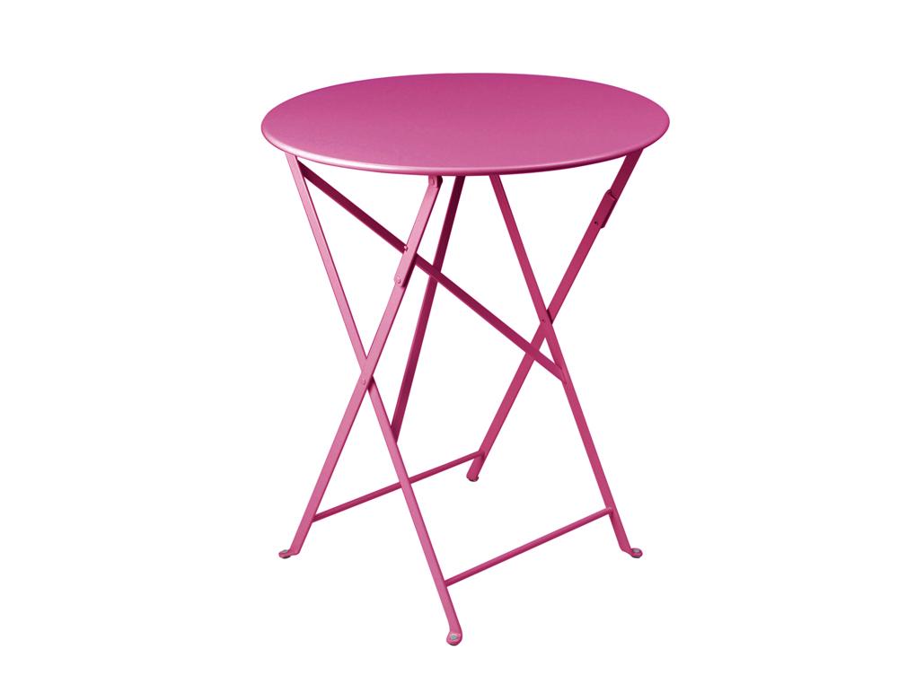 Bistro table Ø 60 cm – Fuchsia