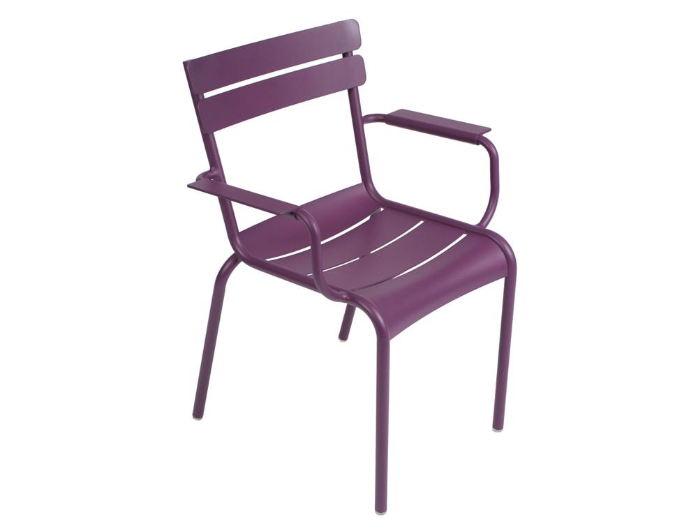 Luxembourg armchair – Aubergine