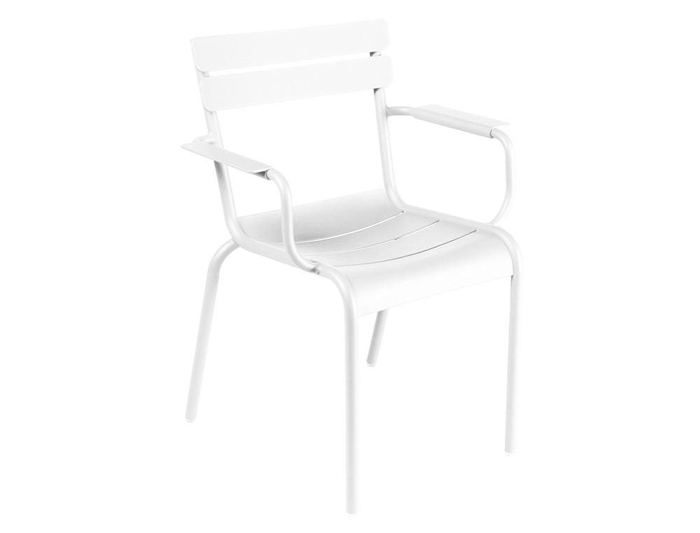 Luxembourg armchair – Cotton White