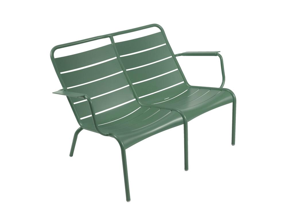 Luxembourg low armchair duo – Cedar Green