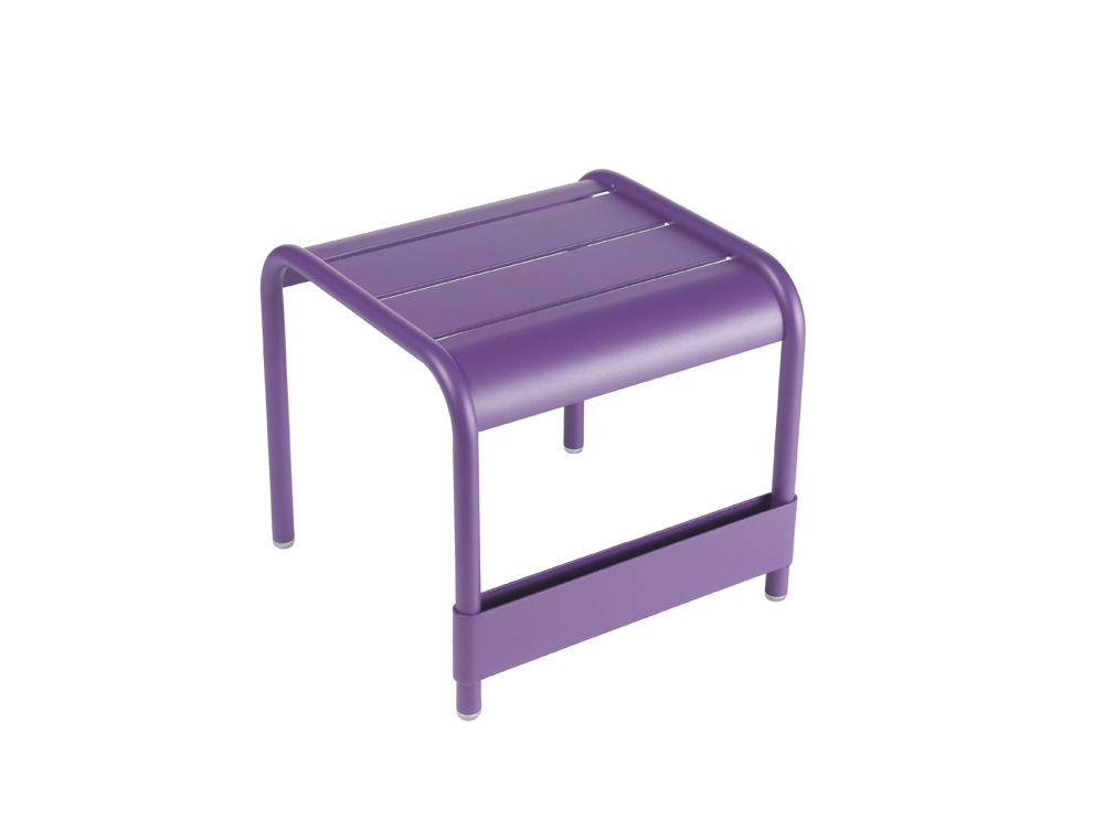 Luxembourg small low table/footrest – Aubergine