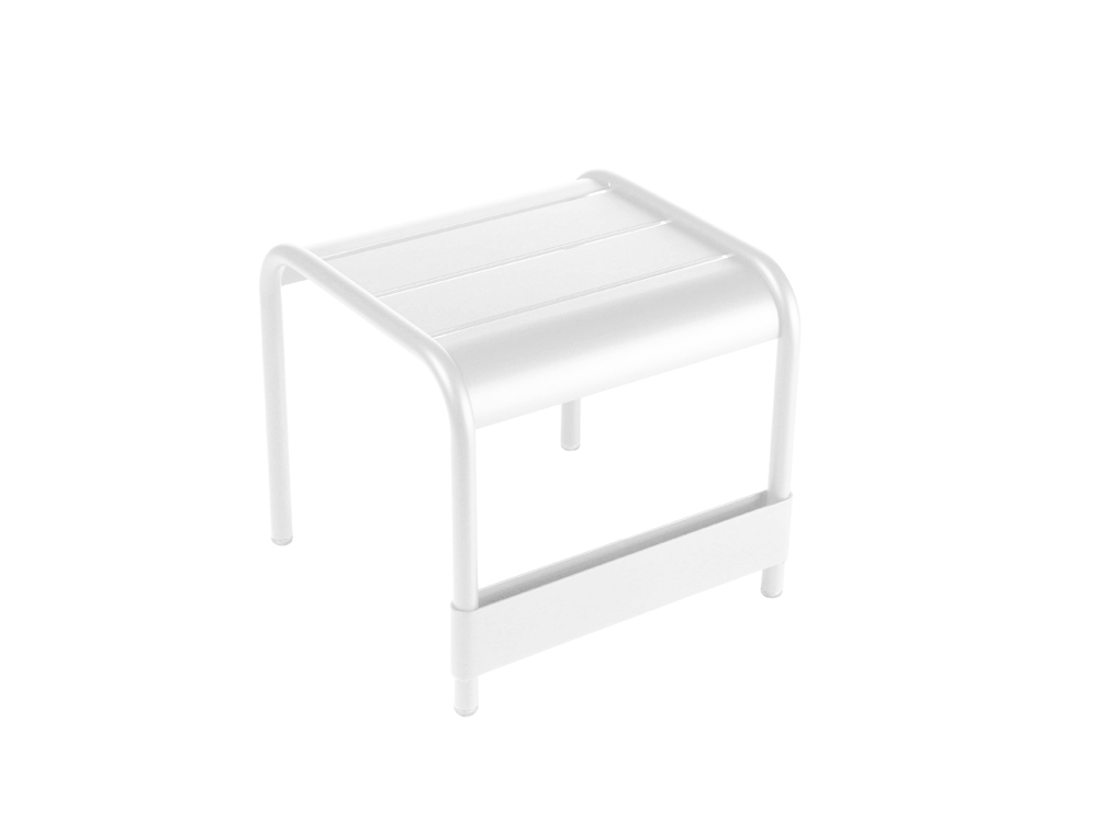 Luxembourg small low table/footrest – Cotton White