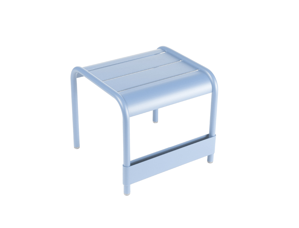 Luxembourg small low table/footrest – Fjord Blue