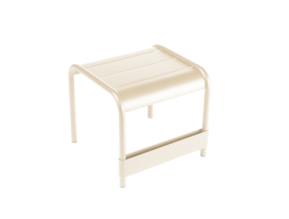 Luxembourg small low table/footrest – Linen