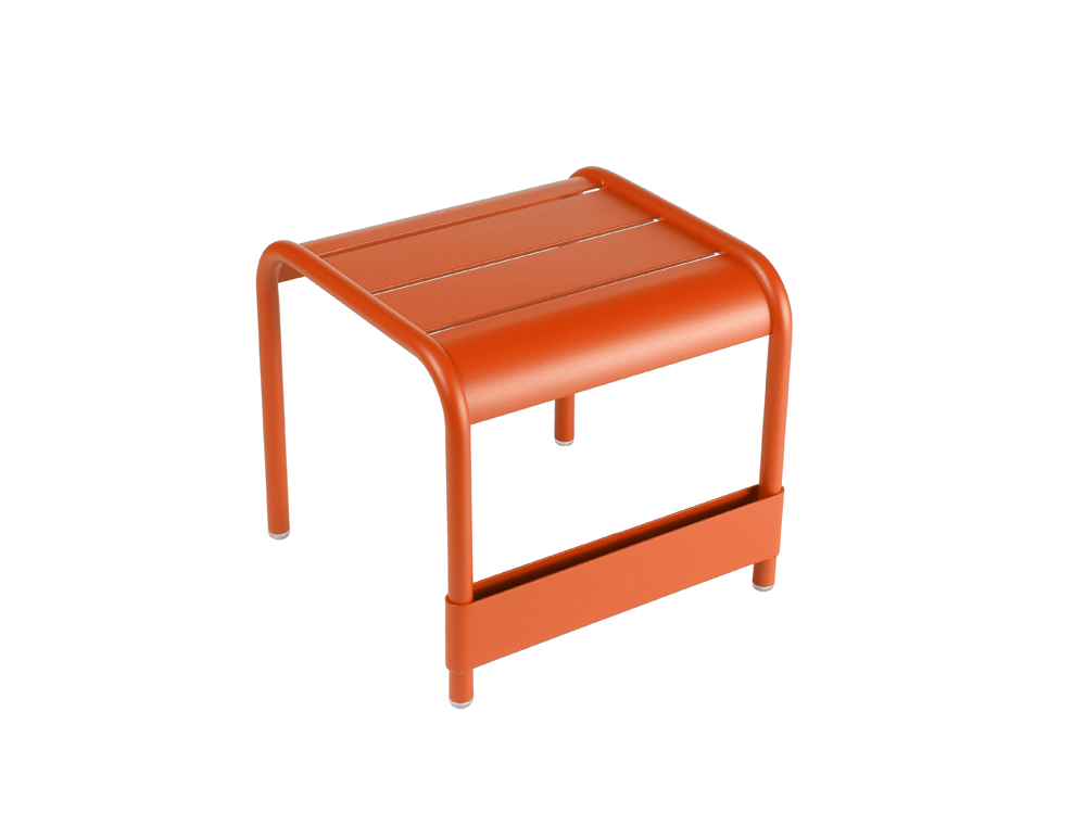 Luxembourg small low table/footrest – Paprika