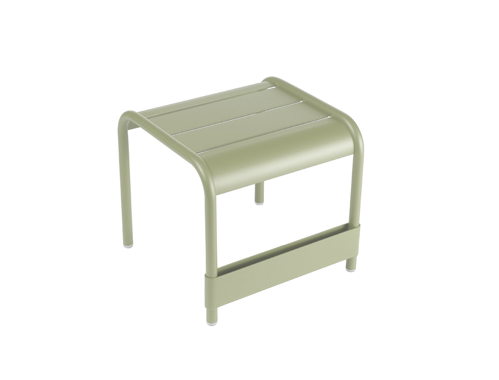 Luxembourg small low table/footrest – Willow Green