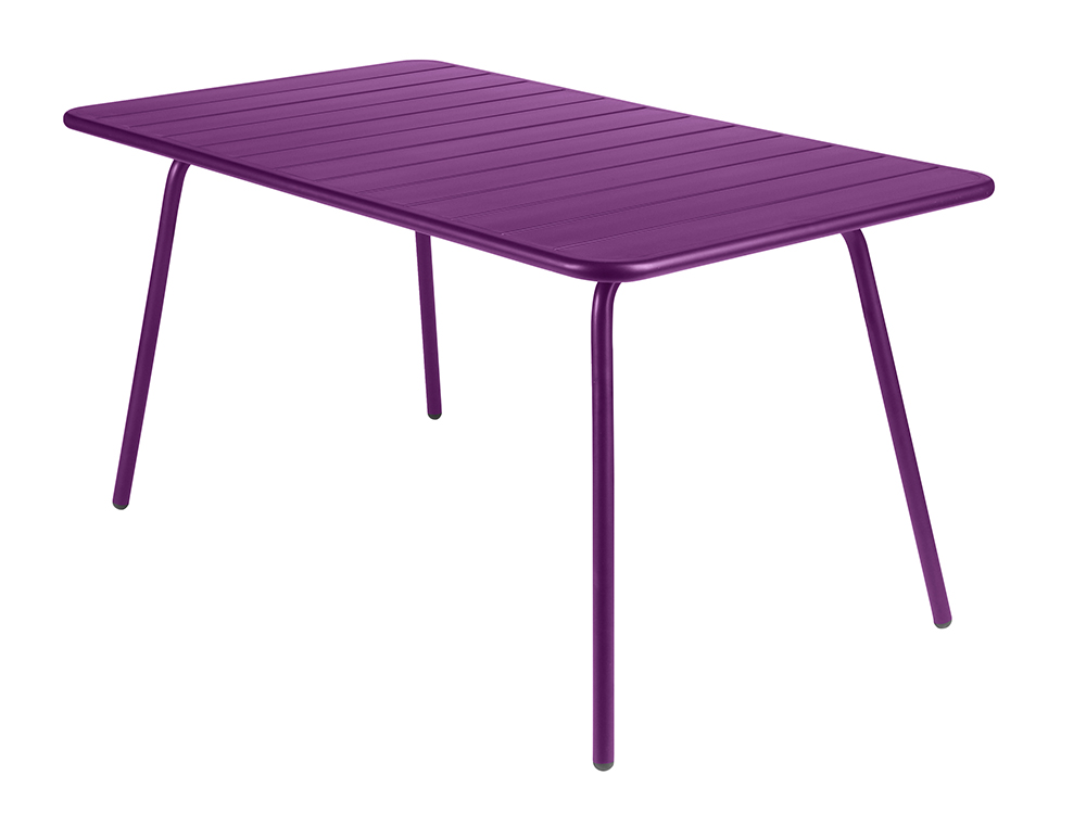 Luxembourg table 80 x 143 cm – Aubergine
