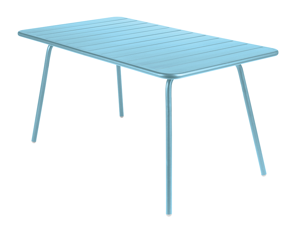 Luxembourg table 80 x 143 cm – Fjord Blue