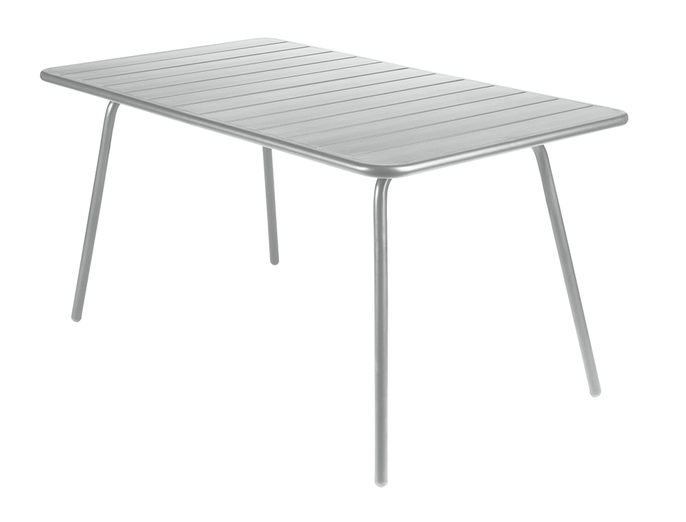Luxembourg table 80 x 143 cm – Steel Grey