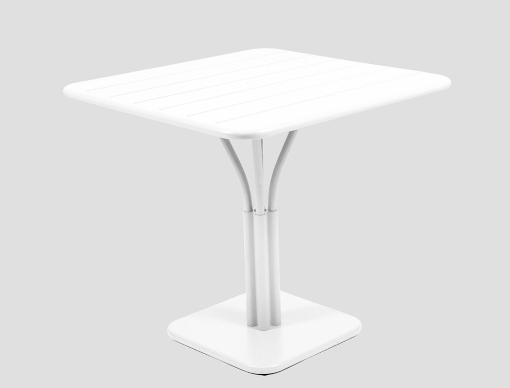 Luxembourg table 80 x 80 with 1 leg – Cotton White