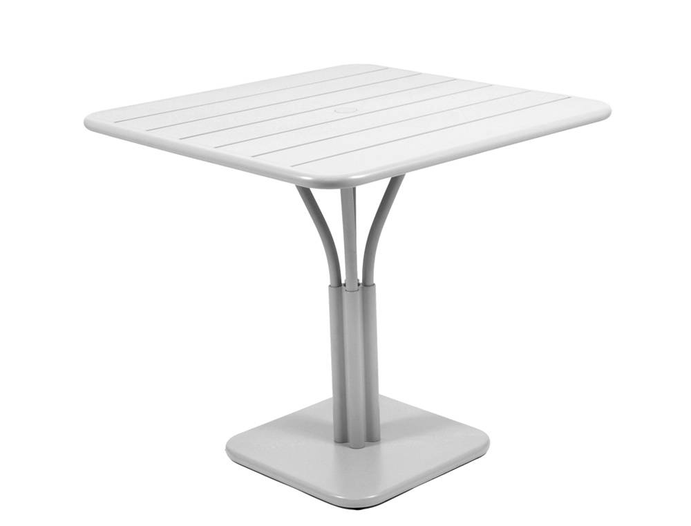 Luxembourg table 80 x 80 with 1 leg – Steel Grey